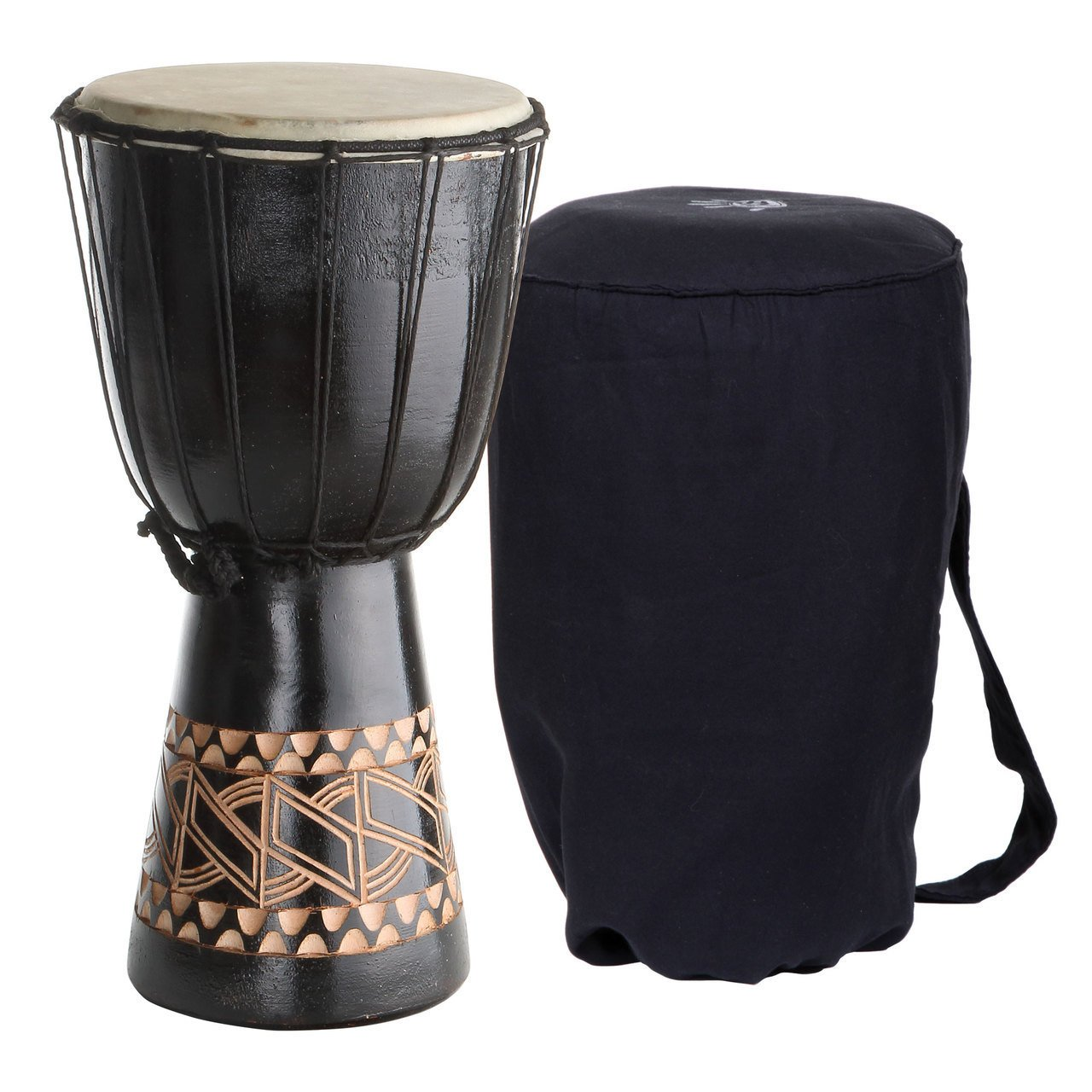 Djembe For Kids, X8 Tribal Backpacker Small 16 Inch Afric...