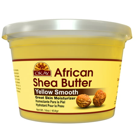 Okay Pure Naturals Yellow Smooth African Shea Butter, 16 oz