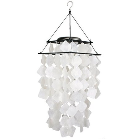 Woodstock Chimes Capiz Solar Diamonds Wind Chime