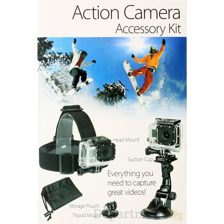 Platinum Plus Action Camera Accessory Kit Plus Camera Accessory