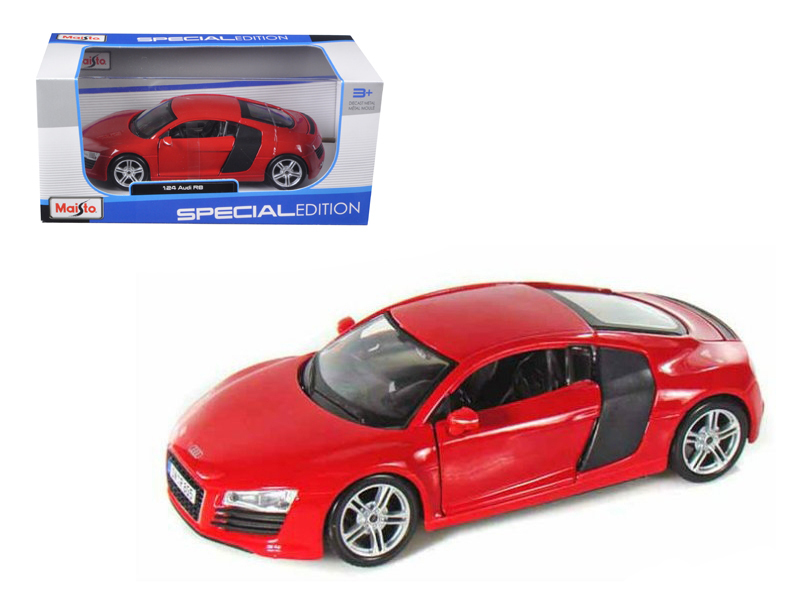 Audi R Red Diecast Model Car By Maisto - Red audi r8