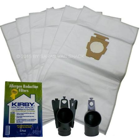 6 Vacuum Cleaner Bags Hepa Cloth Sentria Ii F Style Micron