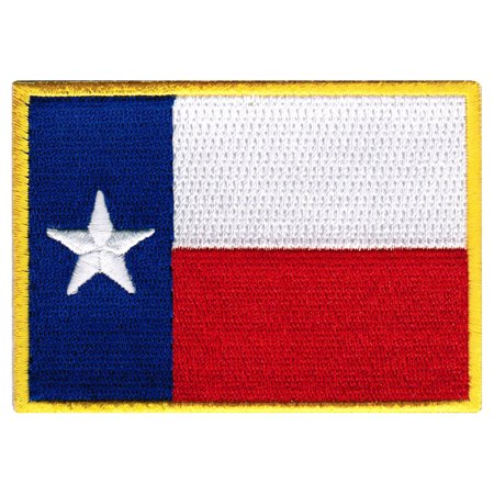Texas Embroidered Iron-On Flag Patch ()