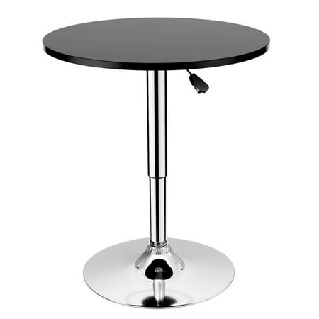 Yaheetech Modern Adjustable Round/Square Pub Table Bar Table 360 Degree Swivel MDF Top