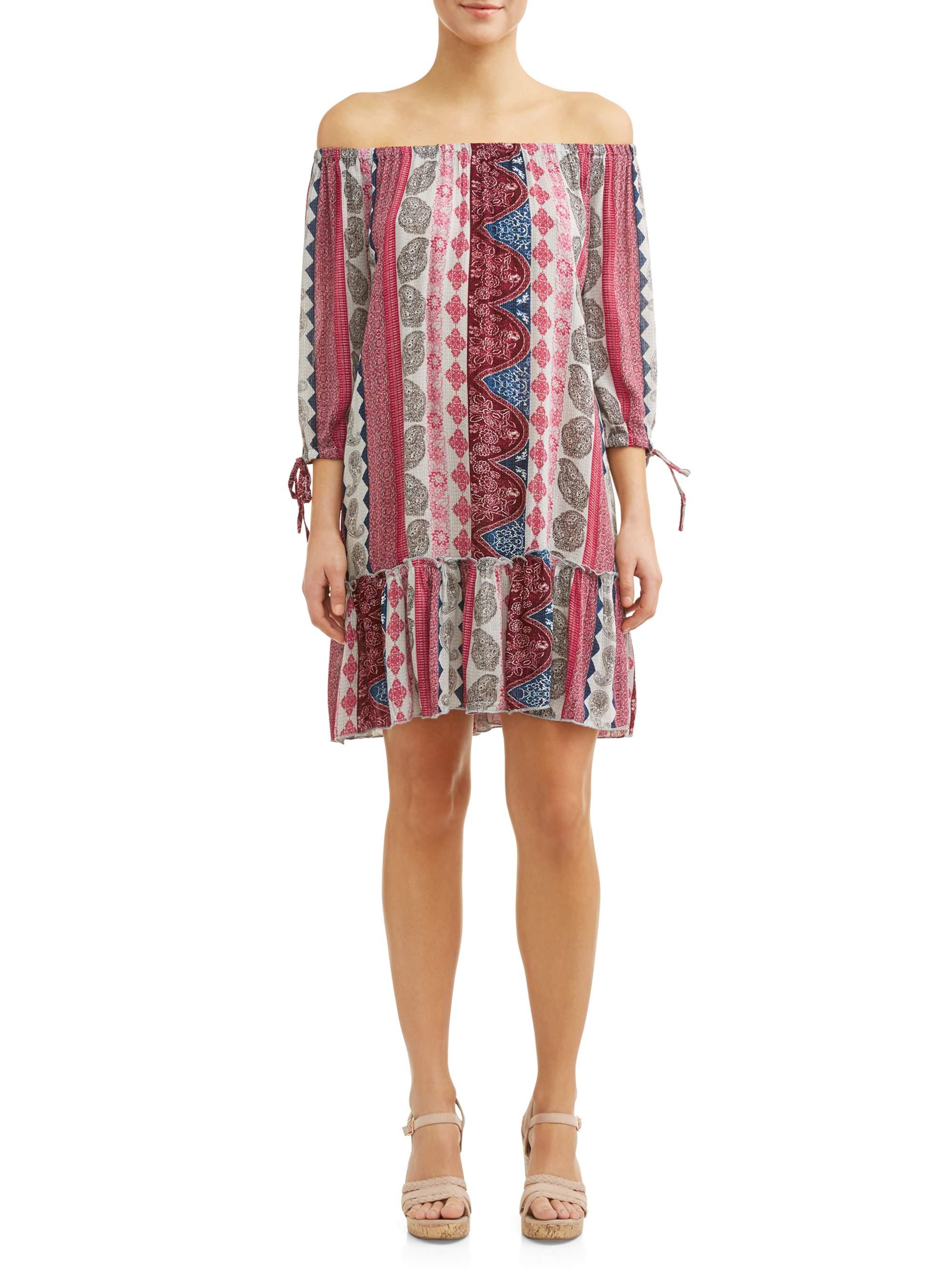 Women's Printed Drop Waist Dress