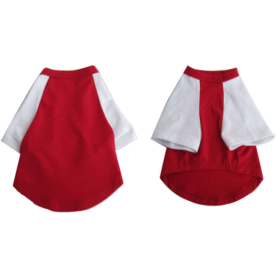 Iconic Pet Pretty Pet Red and White Top, Large