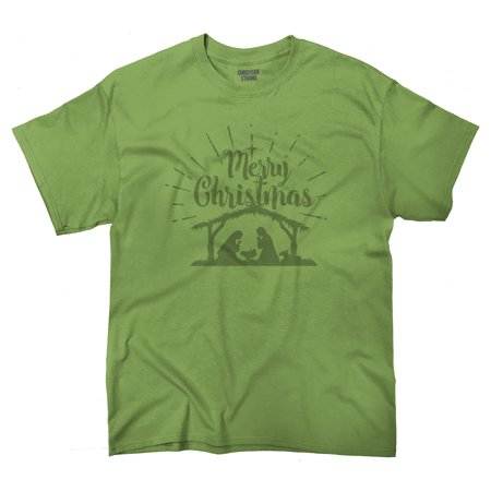 Merry Christmas Nativity Christmas Funny Shirts Gift Ideas T-Shirt Tee by Brisco Brands - Nativity Clothes
