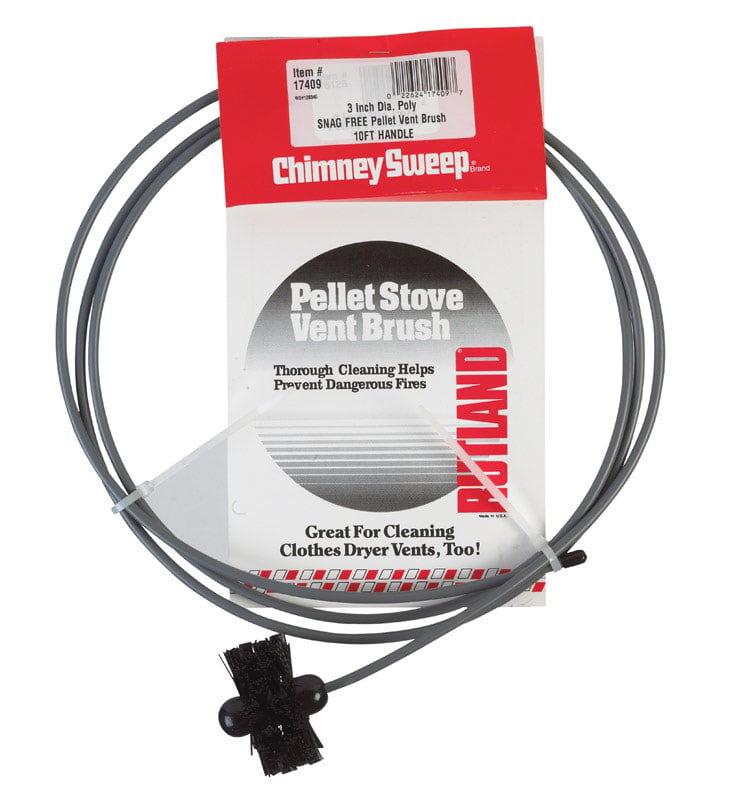 "3""  Pellet Stove/Dryer Vent Brush with 10' flexible handle"