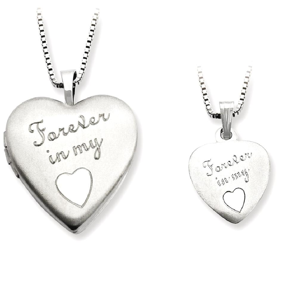 ICE CARATS ICE CARATS 925 Sterling Silver Forever In My Heart Photo Pendant Charm Locket Chain Necklace That Holds... by IceCarats Designer Jewelry Gift USA