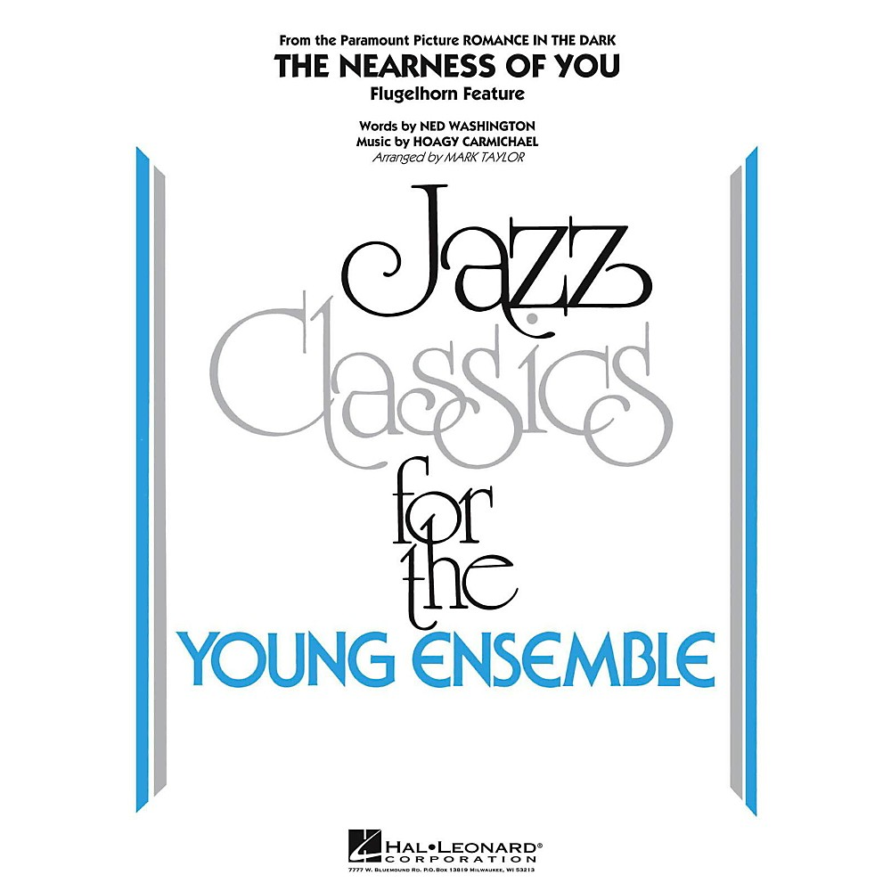 Hal Leonard The Nearness Of You (Flugelhorn Feature) Jazz Band Level 3 by