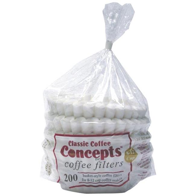 Classic Concepts MF200 8-12 Cup Coffee Filters, 200 ct.