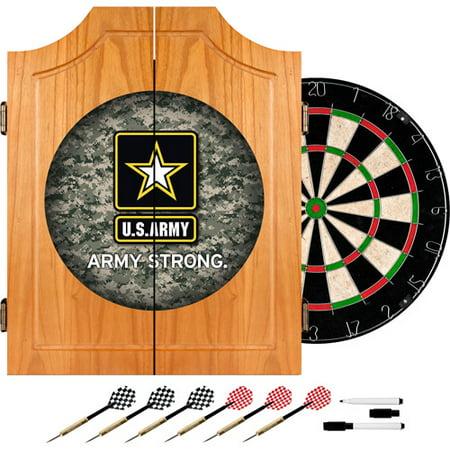 U.S. Army Digital Camo Wood Dart Cabinet Set