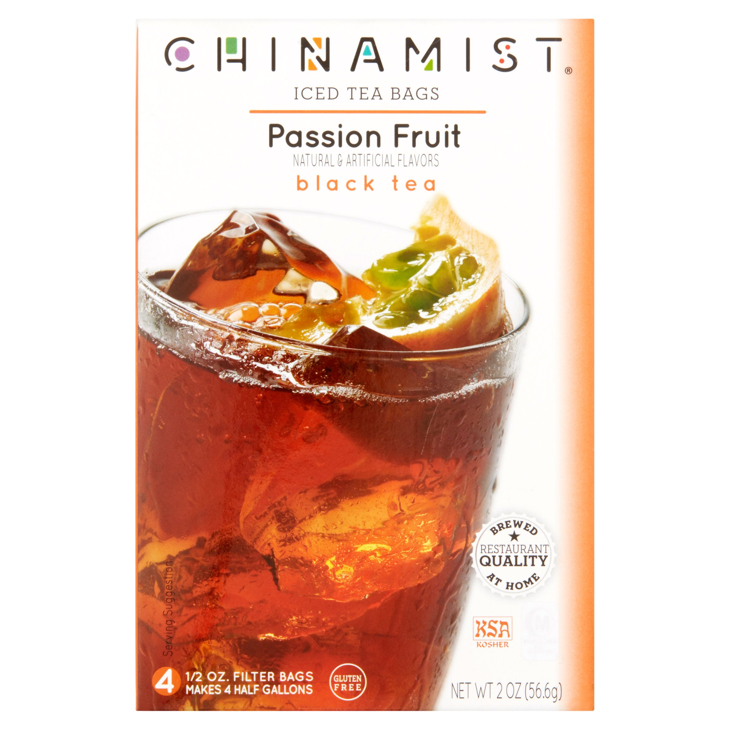 China Mist Passion Fruit Iced Black Tea, .5 oz, 4 count