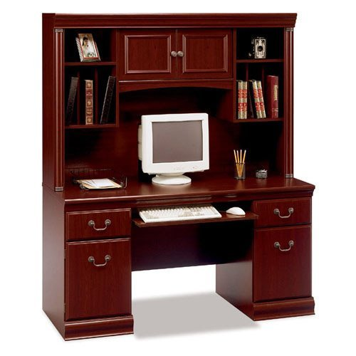 Bush Birmingham Credenza with Optional Hutch