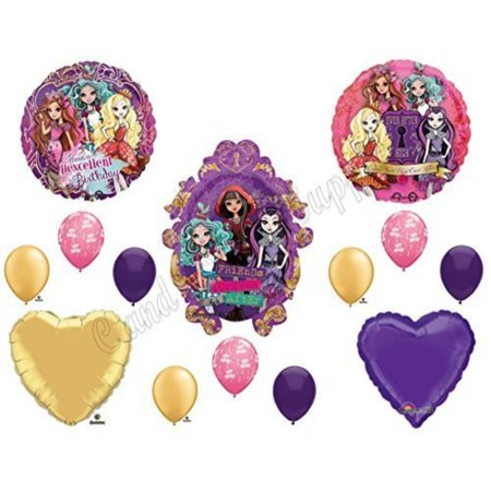 Monster High Birthday Decorations (EVER AFTER HIGH Happy Birthday Balloons Decoration Supplies Monster Hexcellent by)