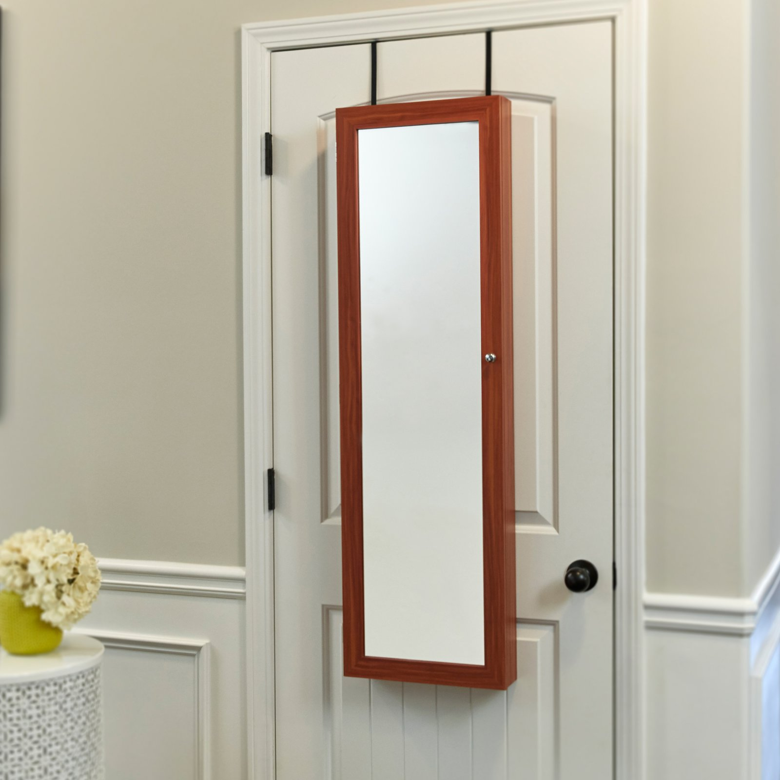 FirsTime & Co. Over-the-Door/Wall-Hang Mirrored Jewelry Armoire