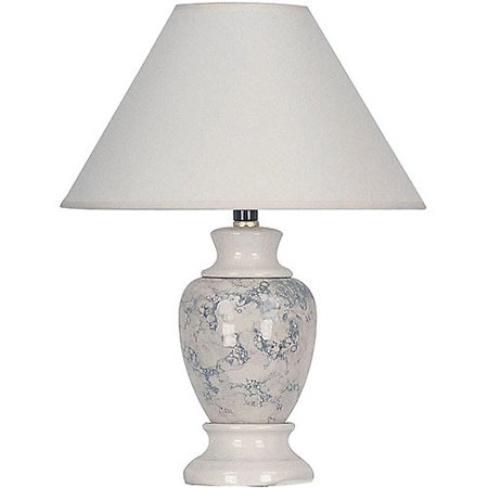 ORE International Ceramic Table Lamp, Ivory - Ivory Traditional Floor Lamp