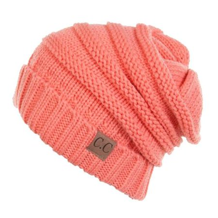 C.C. Trendy Warm Oversized Chunky Soft Oversized Cable Knit Slouchy Beanie  - Walmart.com 77d984862f6
