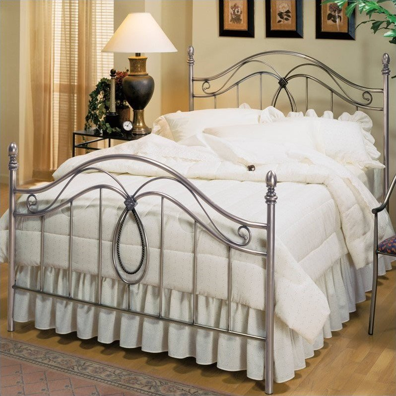 Hillsdale Milano Antique Pewter Metal Poster Bed-Queen by Hillsdale