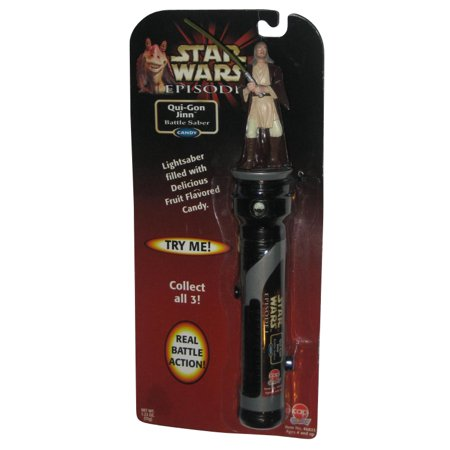 Star Wars Episode I Qui-Gon Jinn Light Saber Candy Dueling Action Figure](Star Wars Candy)