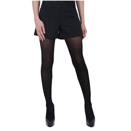 Nylon Satin Shorts - Henry Segal Women's Pocketless Black Tuxedo Shorts with Satin Side Stripe