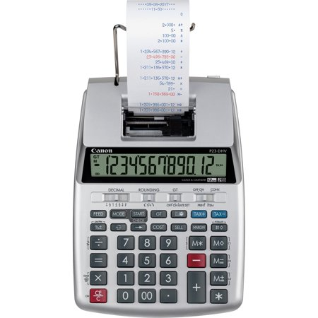 Canon, CNMP23DHV3, P23-DHV-3 12-digit Printing Calculator, 1 Each,