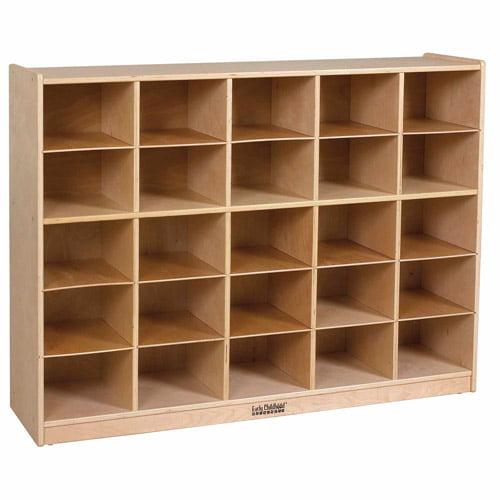Birch Storage Cabinet with 25 Tray Cubbies