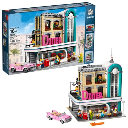 """""""Happyline"""" Expert Downtown Diner 10260 Building Kit, Model Set and Assembly Toy for Kids and Adults (2480 Pieces) (Mech Model Kit)"""