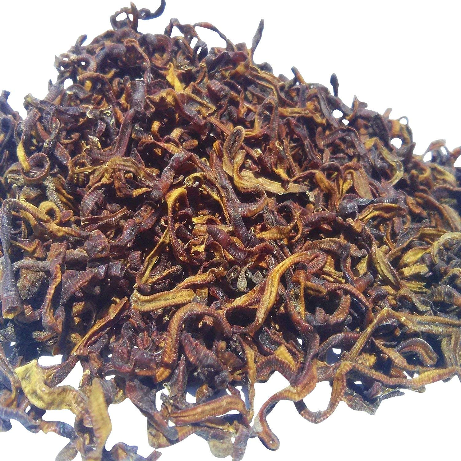 Aquatic Foods Freeze Dried Earthworms, Perfect for Large Tropicals, Pond Fish, ALL Turtles, Hamsters, Birds Reptiles - 1/8-lb