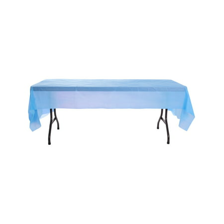 Light Blue Birthday Halloween Party Decoration Plastic Table Cloth - Having Birthday On Halloween