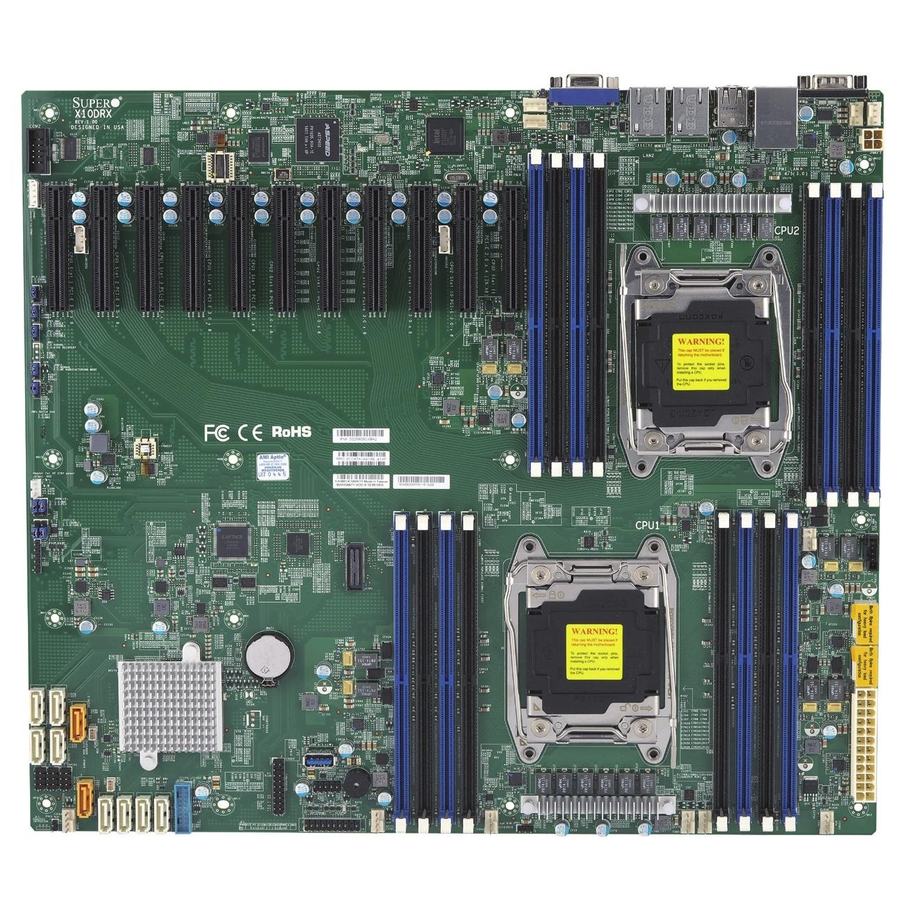 Supermicro 188741 Motherboard Mbd-x10drx-b E5-2600v4/v3 S2011 2xr3 Pci Express Proprietary Brown Box