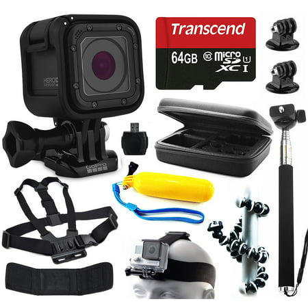 gopro hero5 session hd action camera chdhs 501 with 11 piece accessories bu. Black Bedroom Furniture Sets. Home Design Ideas