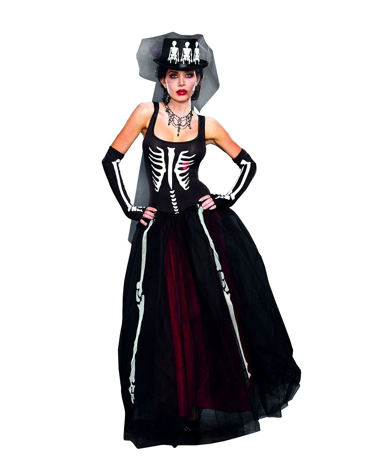 Dead Bride Halloween Costume.Ms Bones Dress Zombie Bride Day Of The Dead Skeleton Gown Women S Costume Sm Xl