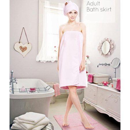 Zerone Women Soft Bath Body Wrap Set Shower Spa Towel Bath Wrap with Adjustable Hair Drying Cap Hair Turban