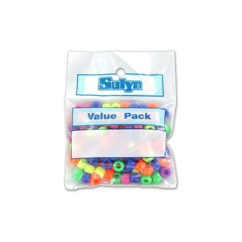 Pony Beads, Assorted Colors (Pack of 25)