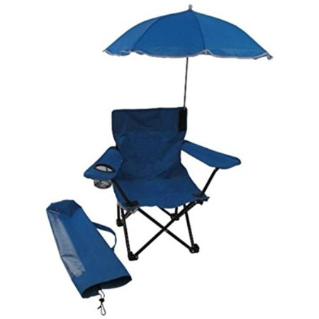 Beach Baby All-Season Umbrella Chair with Matching Shoulder Bag, Blue,Walmartplete folding camp chair with removable shade umbrella and matching tote bag By