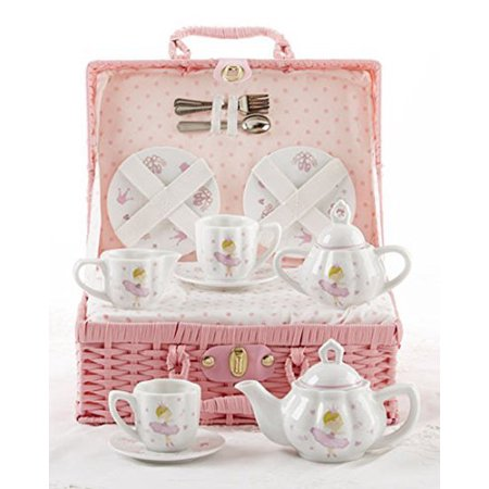 Delton Products Bella Ballerina Porcelain Tea Set in Case, Pink - Delton Products Halloween
