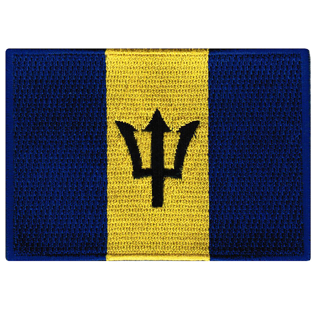 Barbados Flag Embroidered Iron-on Patch