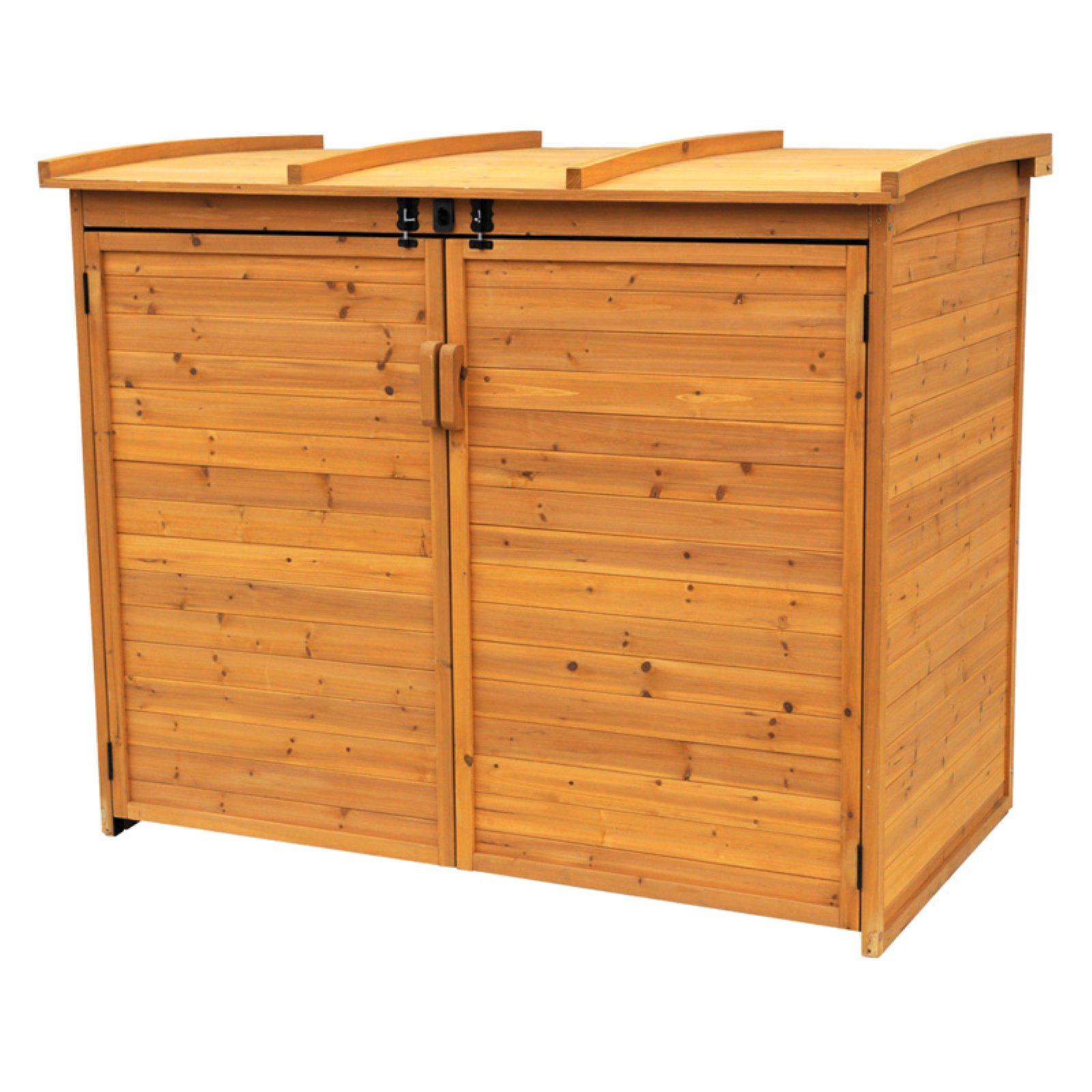 Leisure Season Large Horizontal Refuse Storage Shed, Medium Brown