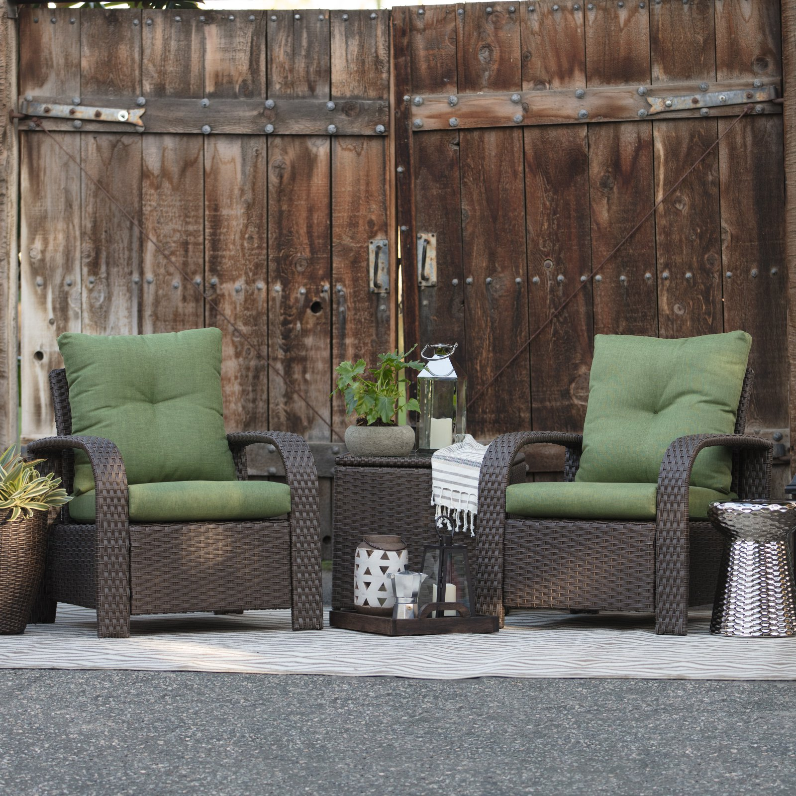 Belham Living Asheville 3 Piece Patio Storage Chat Set