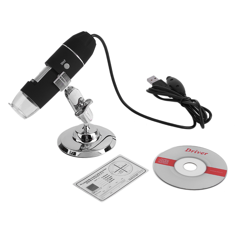 800x Digital USB Microscope Endoscope Camera 8 LED Light 2MP Magnifier by Generic