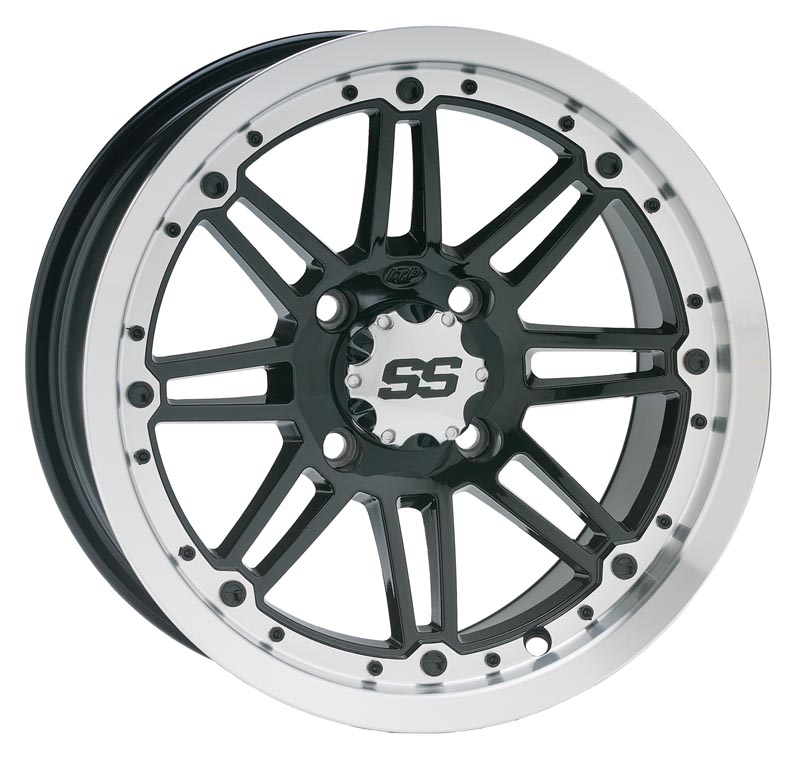 ITP SS216 Aluminum Wheel Front Or Rear 12x7 Machined W/Black Fits 03-12 Can-Am All Outlander Models