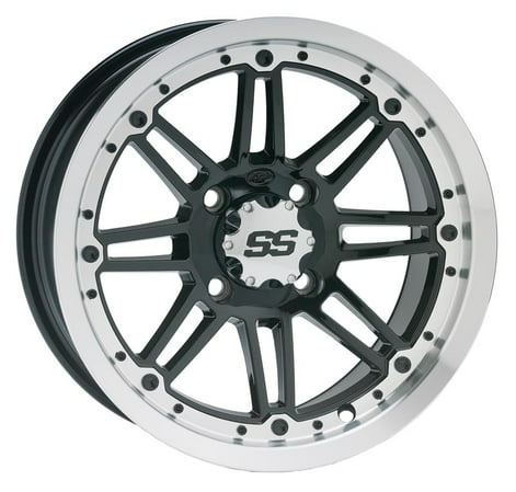ITP SS216 Aluminum Wheel Front Or Rear 12x7 Machined W/Black Fits 98-02 Arctic Cat 300 2x4