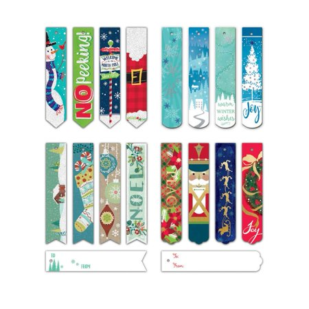 Bundle of 96 Assorted Christmas Bookmark Tags, Holiday Gift Tags 96ct Bundle of 96 Assorted Christmas Bookmark Tags, Holiday Gift Tags 96ct