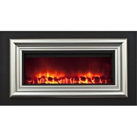 Portland Willamette Cop Sm Cooper Small Electric Wall Fireplace With Picture Frame Trim