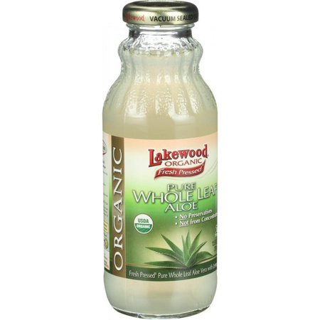 Lakewood Organic Aloe Juice - Whole Leaf - Fresh Pressed - With Lemon - 12.5 - Pressed Leaf