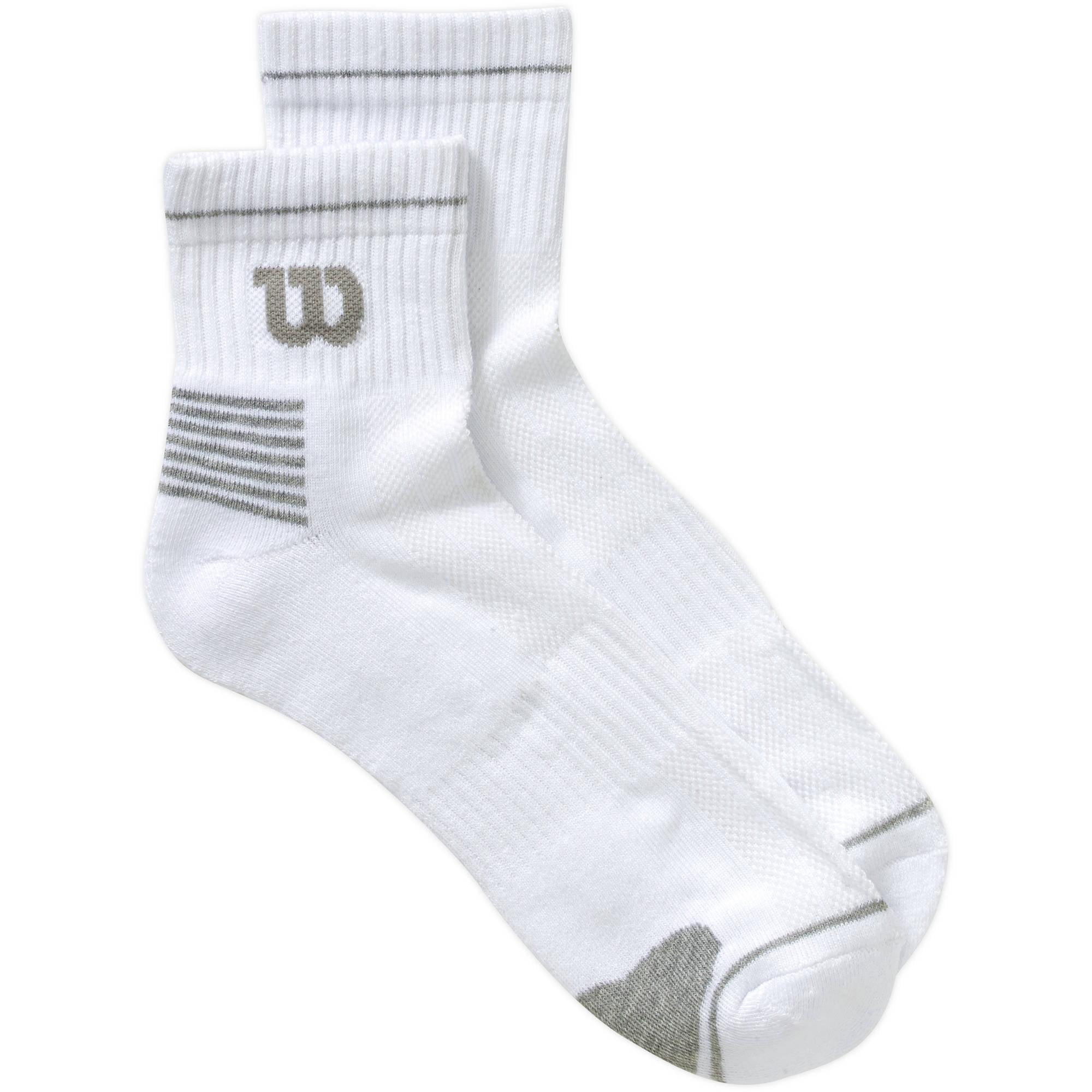 Wilson - 6 Pack Men s Performance Quarter Top Sock - Walmart.com 77e8f1a53e