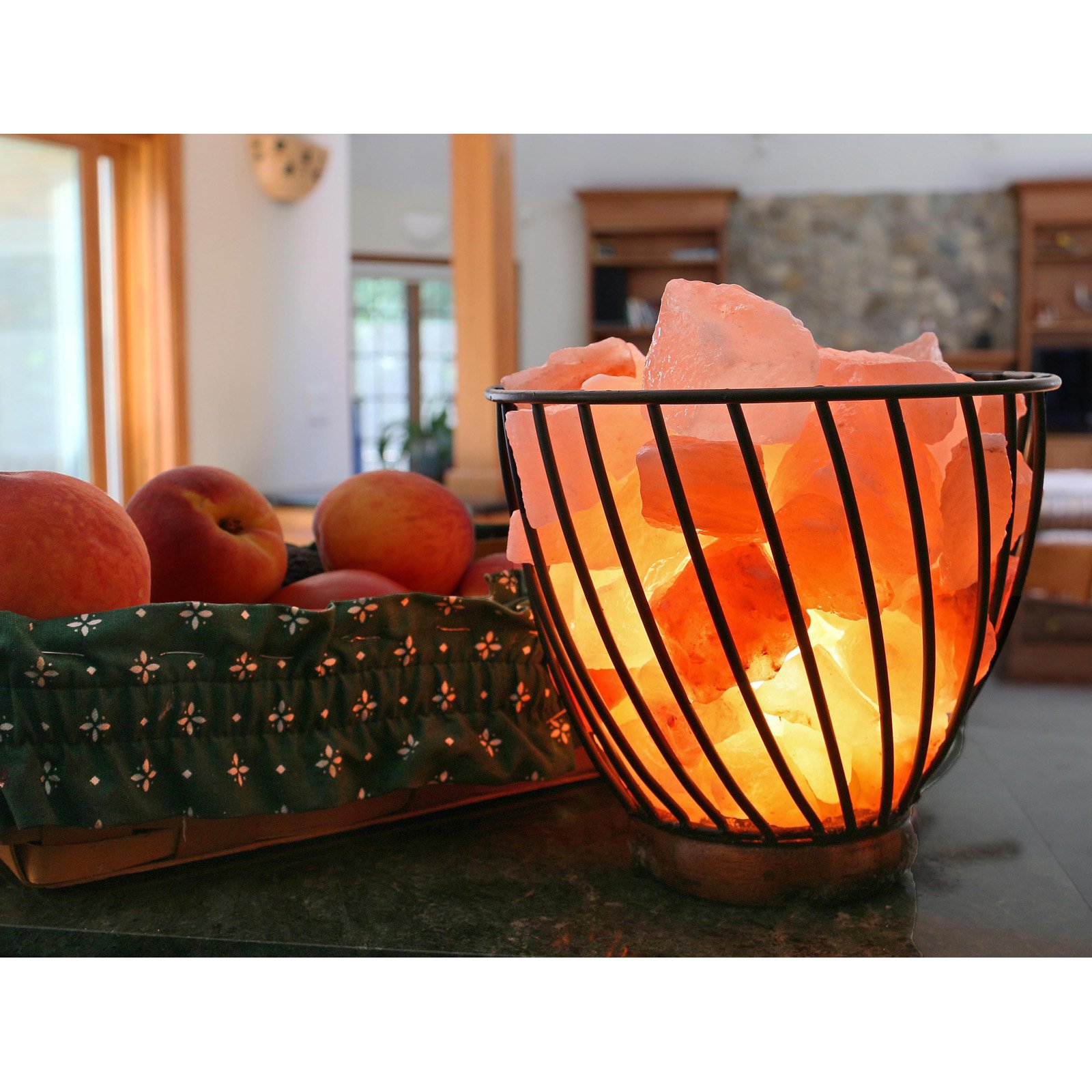 Accentuations by Manhattan Comfort Himalayan Wired Basket 3.0 Salt Lamp with Dimmer