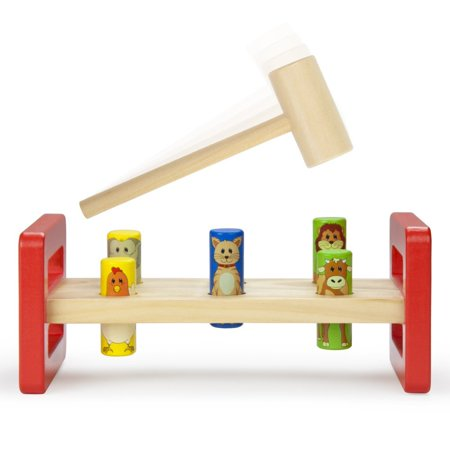 Toddler Boys Toys, Wooden Wonders Pounding Bench Girls Kids Indoor Playset