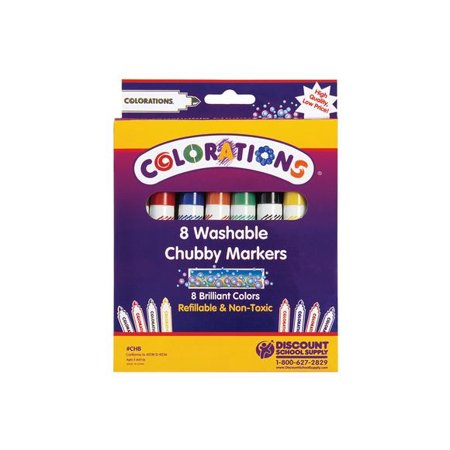 - Colorations Washable Chubby Markers - Set of 8 (Item # CHB)